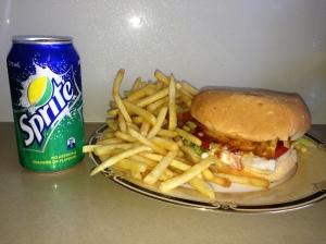 My Schnitzel Burger Meal